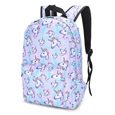Guapabien Traveling Girls 3D Unicorn Print Backpack School Bag