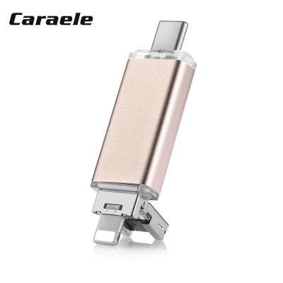 Caraele RI - 4 3 in 1 Data Storage U Disk 32GB / 64GB / 128G