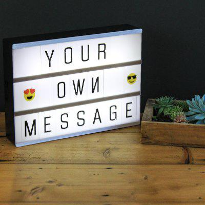 DIY Combination LED Night Light Box with Letter Cards