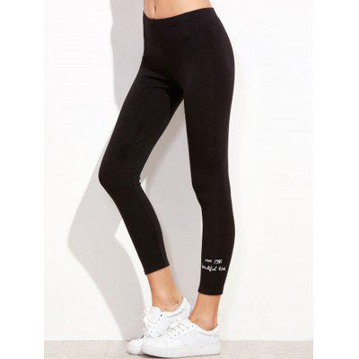 Embroidered Fine Cotton Ladies Leggings