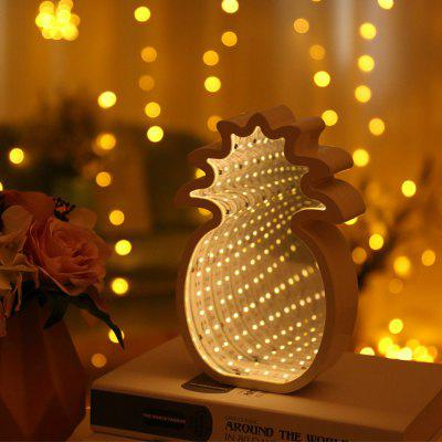 Pineapple Shaped Infinity Mirror Lamp LED Tunnel Light