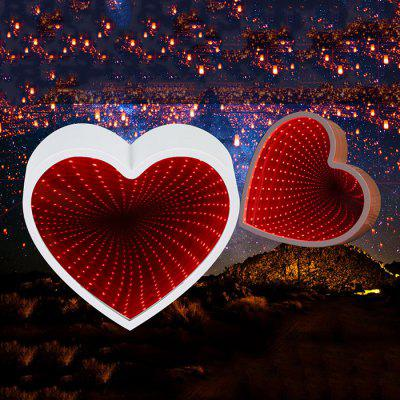 Heart Shaped LED Tunnel Lamp Infinity Mirror Light