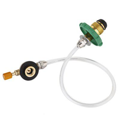 Outdoor Burner Double Side Gas Tube Valve Refill Adapter