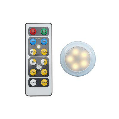LED Puck Light Cabinet Lamp with Remote Control 1pcs