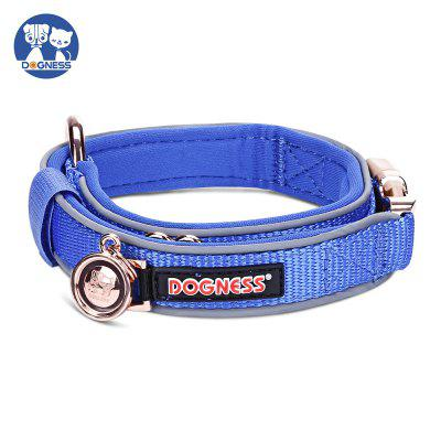 DOGNESS Metal Buckle Adjustable Dog Collar Reflective Nylon