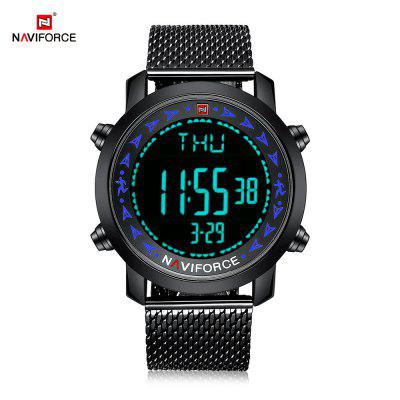 NAVIFORCE 9130 Male Digital Watch Stopwatch Calendar