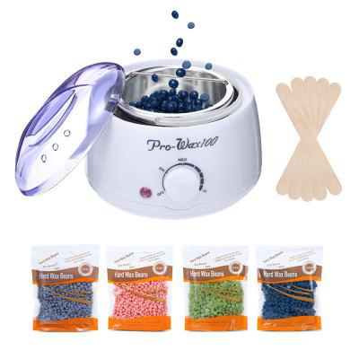 Waxing Kit Hair Removal Wax Warmer Heater Machine Beans