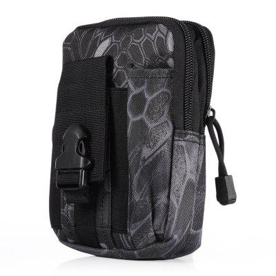 Gearbest Outlife Waterproof Waist Bag - BLACK PYTHON CAMOUFLAGE COLOR Tactic Molle Storage Pocket for Outdoor Sports