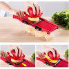 ZS - 8983 Vegetable Fruit Slicer Cutter Kitchen Magic Tool - RED