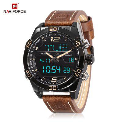 NAVIFORCE 9128 Male Dual Movt Watch Digital Calendar Display