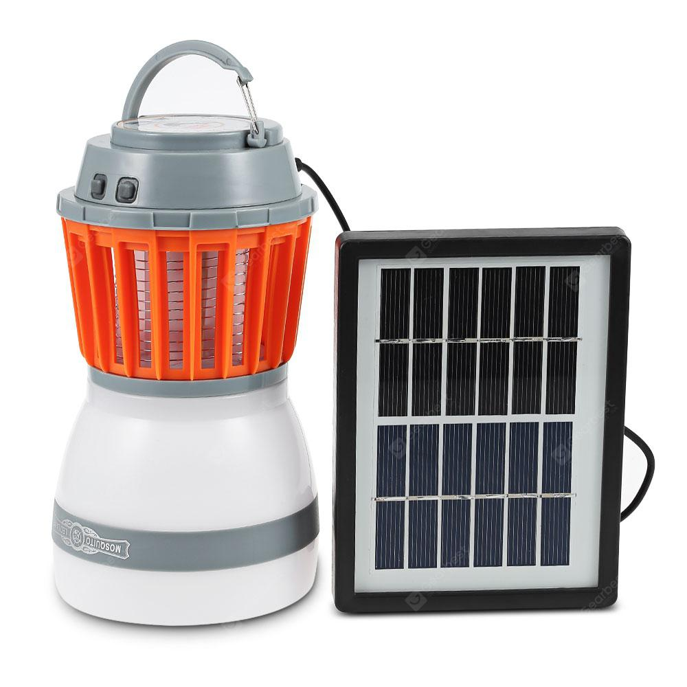Utorch 2-in-1 Camping Light Mosquito Killer Lamp - ORANGE MOSQUITO KILLER LAMP+SOLAR PANEL в магазине GearBest