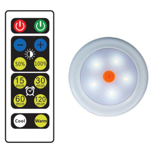 Wireless Led Puck Light Cabinet Lamp With Remote Control 676