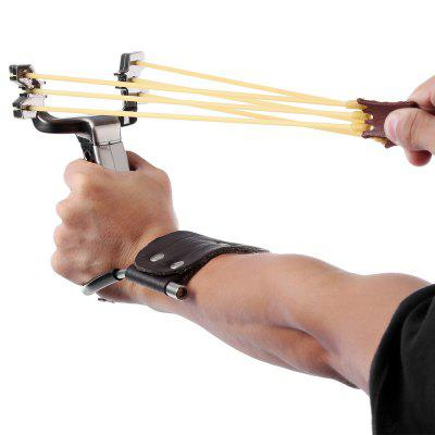 Slingshot Wrist Catapult with Two Rubber Bands