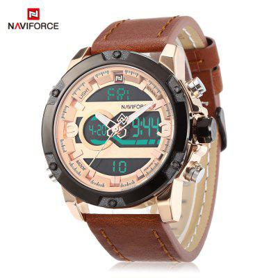 NAVIFORCE 9097 Male Dual Movt Watch LED Calendar Display