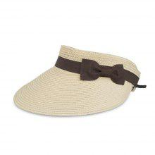 254aacb6929 Women Summer Wide Brim Sun Visor Cap Beach Straw Hat
