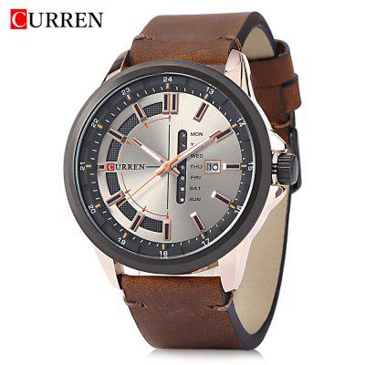 CURREN 8307 Male Quartz Watch Calendar Leisure Wristwatch