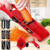 Manual Vegetable Fruit Cutter Food Shredder - LOVE RED