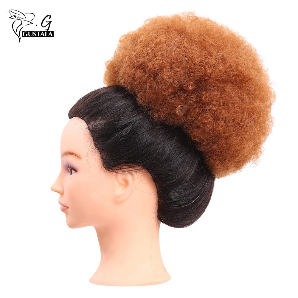 Gustala Women Messy Fluffy Curly Synthetic Hair Chignons Wig
