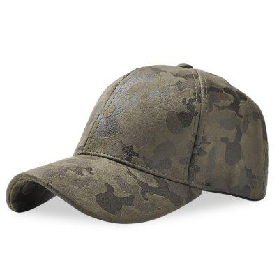 Baseball Cap Men Women Suede Camouflage Adjustable Hat