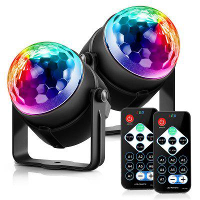 ACCEWIT MGY   019 2PCS RGB LED Party Effect Disco Ball Light Stage Lighting