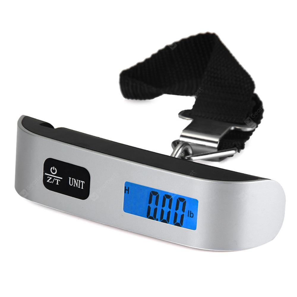 Hostweigh NS - 14 Mini Electronic Scale 50kg Capacity Hand Carry Luggage Digital Weighing Device Thermometer with LCD