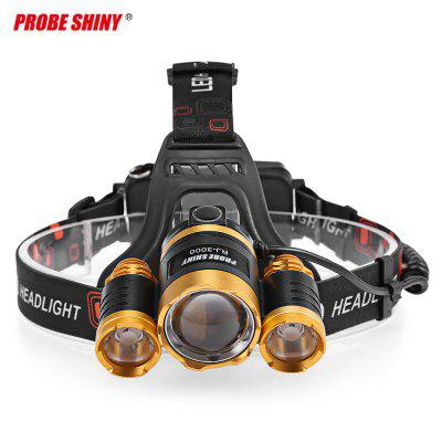 PROBE SHINY Head-mounted Focusing 20W LED Headlight powerful 30w headlight super bright head lamp rechargeable headlamp waterproof led headlight for huting fishing camping