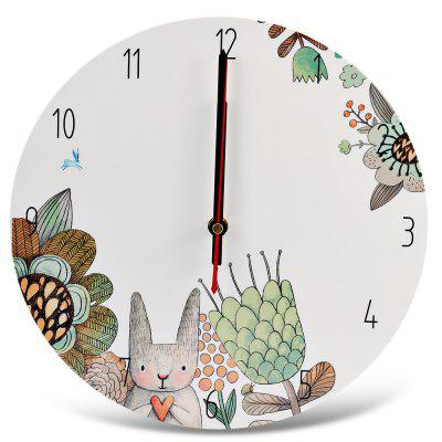 APC001a Cartoon Silent Wooden Wall Clock Home Art Decor
