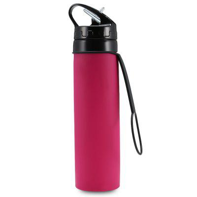 600ml Collapsible Silicone Water Bottle for Sports / Outdoor Use