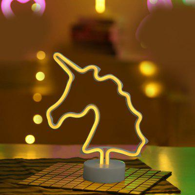 Unicorn Model Neon Decorative Lamp