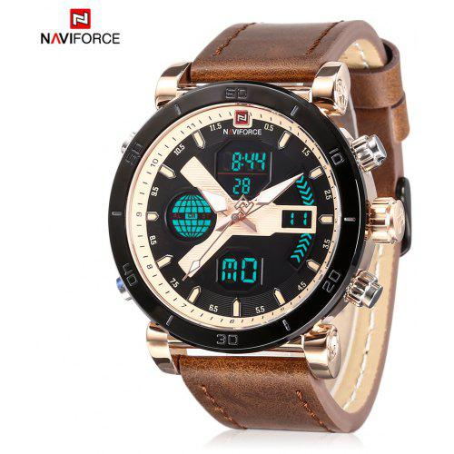 ... Fashion Jewelry · Men's Watches. Naviforce 9132 Male Dual Movt Watch Luminous Calender Display for Men