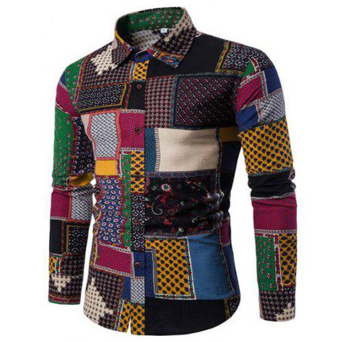 855168a3dfb New Spring Fashion Personality Colorful Men s Long Sleeve Shirt -  20.33 Free  Shipping