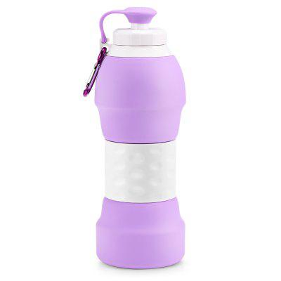Platinum Silicone Foldable Portable Drinking Water Bottle 580ML Large Capacity