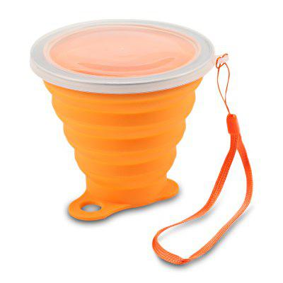Silica Gel 270ML Folding Water Cup Heat Resistance with Cover Strap