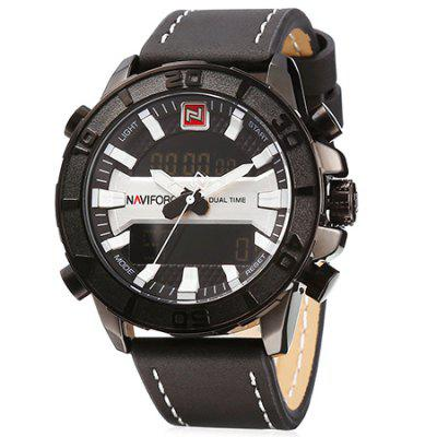 NAVIFORCE 9114 Dual Movt Sports LED Male Watch