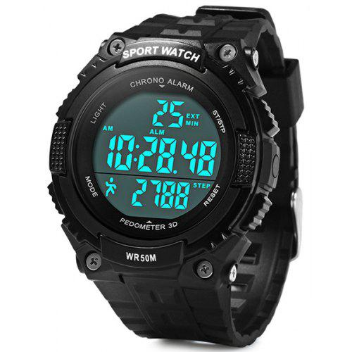 Digital Watches Skmei Sport Watch Fashion Outdoor World Time Summer Countdown Waterproof Digital Wristwatches Men Compass Military Watches 2019 Neither Too Hard Nor Too Soft Watches