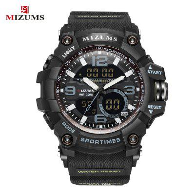 MIZUMS 8005 Dual Movt Sports LED Male Watch