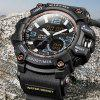 MIZUMS 8005 Dual Movt Sports LED Male Watch - BLACK