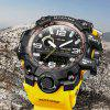 MIZUMS 8004 Dual Movt Sports LED Male Watch - YELLOW