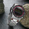 MIZUMS 8003 Male Watch Digital Quartz Wristwatch for Men - SILVER AND RED
