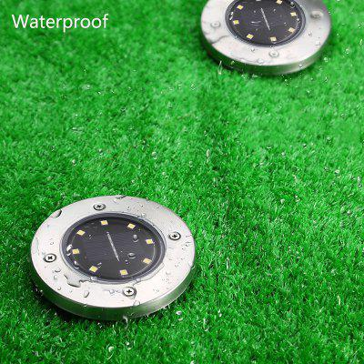 8 LEDs Solar Powered IP65 Waterproof Ground Lamp for Outdoor Fence Garden