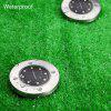 8 LEDs Solar Powered IP65 Waterproof Ground Lamp for Outdoor Fence Garden - WARM WHITE