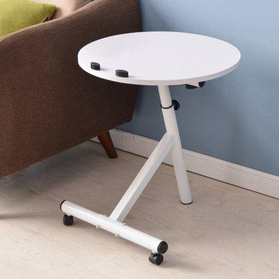 Movable Lift Desk Round Adjustable Tea Table free shipping stainless steel toughened glass tea table small tea table