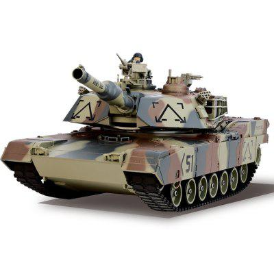 HUANQI 781 - 10 M1A2 40MHz Simulation Infrarouge RC Char de Bataille