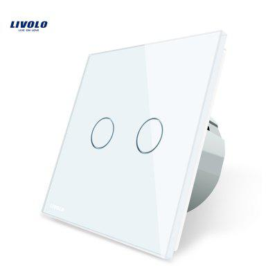 LIVOLO C7 Intelligent Touch Switch Two Gang and Way Control Glass Panel