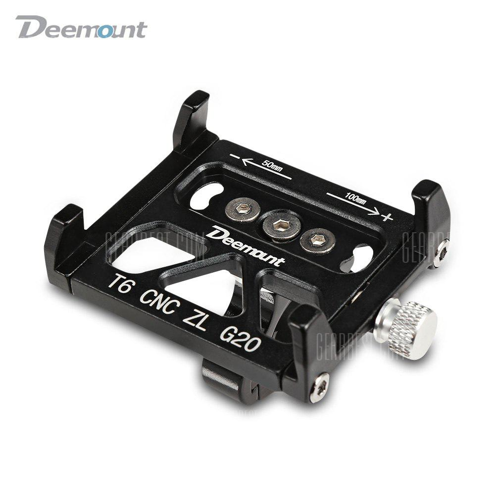Deemount Universal Aluminum Alloy Motorcycle / Bicycle Phone Mount Holder