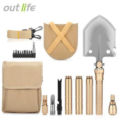 Outlife Military Folding Shovel with Carrying Bag Army Multi-tools for Camping