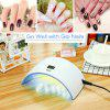 Inlife SUNsame9 UV LED Light Gel Nail Portable Timer Screen IR Sensor 24W Home - SKY BLUE