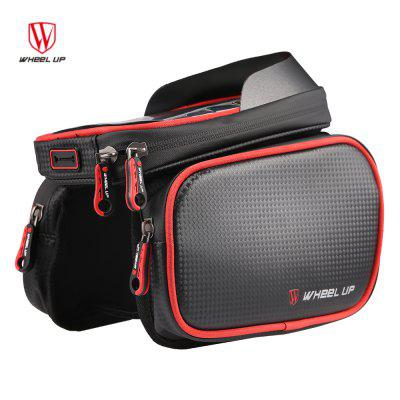 WHEELUP WH009 Cycling Bike Bag Tube Top Front Frame Pannier Double Pouch