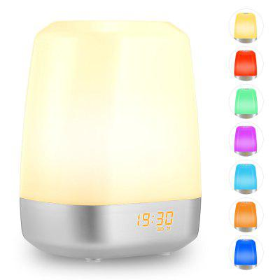 Inlife MY - 08 Rechargeable LED Wake-up Lamp Sunrise Alarm Clock with 5 Natural Sounds
