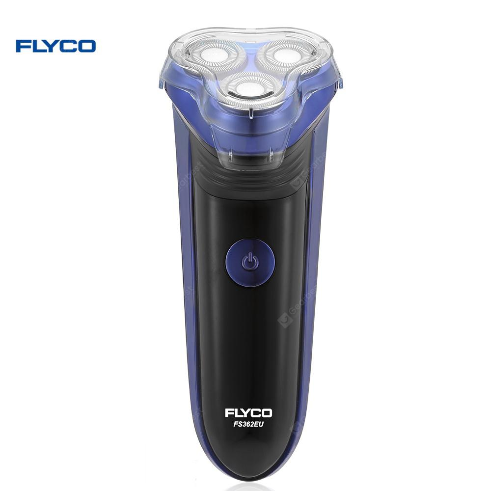 FLYCO FS362EU Electric Shaver with Comfort Cut Blade System for Men - BLACK BLUE EU PLUG